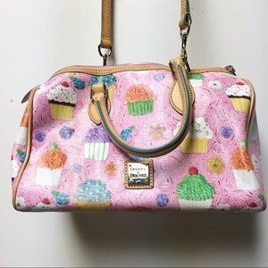 Dooney & Bourke Pink Cupcake Satchel Bag Purse EUC